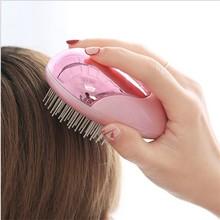 Портативная электрическая Ионная Щетка для волос, выпрямитель для волос, расческа с отрицательными ионами, Антистатическая Массажная мини прямая расческа для волос