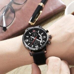 Image 5 - Mini Focus Sport Horloge Voor Mannen Luxe Casual Chronograaf Horloges Quartz Heren Horloge Lederen Top Merk Luxe Militaire