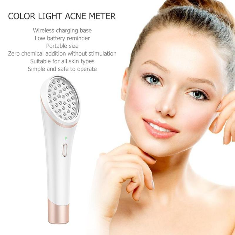 Powered Facial Cleansing Devices Acne Light Therapy Treatment Device Acne Clearing Eraser with Light Wireless RechargeablePowered Facial Cleansing Devices Acne Light Therapy Treatment Device Acne Clearing Eraser with Light Wireless Rechargeable