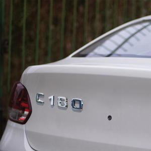 Image 2 - 3D Chrome Car Model Refitting Badge Sticker Car Trunk Rear Emblem Badge Chrome Letters For Mercedes C Class C180 C200 C220