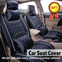 11PCS/Set Universal Car Seat Cover For Toyota Corolla Accessories Covers For Vehicle Seat Automobiles PU Leather Black White