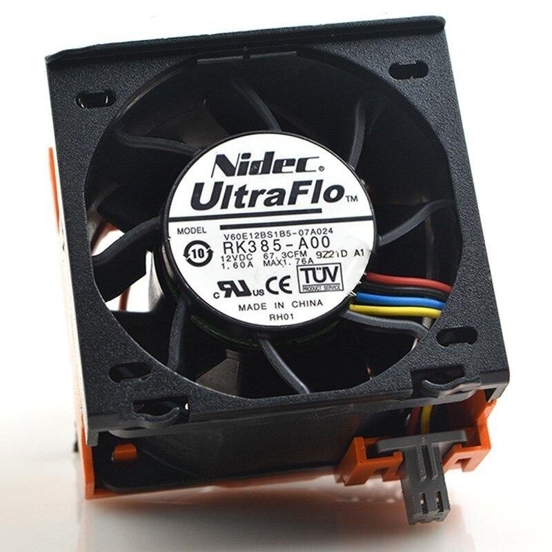Nidec V60E12BS1B5-07A024 RK385-A00 R710 DC 12V 1.6A pour s'adapter au serveur DELL 090XRN ventilateur de refroidissement