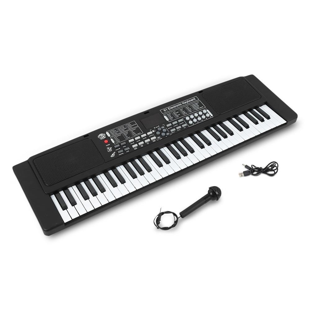 61 touches clavier électronique Piano avec Microphone externe enfants jouets éducatifs orgue Instrument de musique enfants jouet - 5
