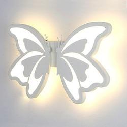 Kreatywny motyl ściany światła na ścianie nowoczesny salon sypialnia dla dzieci akrylowe LED Wall u nas państwo lampy przejściach i korytarzach korytarz kinkiet Decor 24 W AC85 265V w Wewnętrzne kinkiety LED od Lampy i oświetlenie na