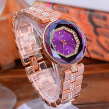2019 Top Brand New Fashion Gogoey Rose Gold Watches ladies casual Simple Diamond quartz wristwatch