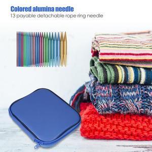 Image 5 - 13 Pairs Aluminum Circular Knitting Needles Ring Set Change Head Knitting Needles DIY Knitting Tools Sewing Accessories