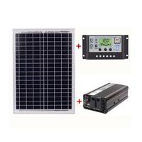 Car Inverter Set Solar Power Generation System Solar Panel Solar Controller Set Outdoor Home AC220V 1500W Outdoor Equipment