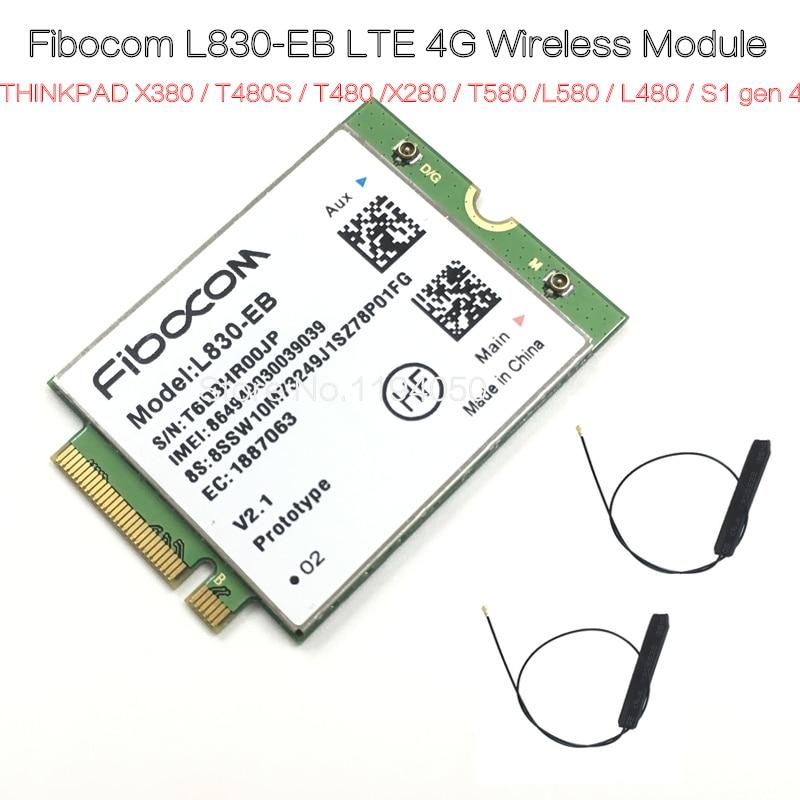 Fibocom L830-EB   THINKPAD X380 / T480S / T480 / X280 / T580 / L580 / L480 / S1 gen 4LTE 4G Wireless Module / WWANFibocom L830-EB   THINKPAD X380 / T480S / T480 / X280 / T580 / L580 / L480 / S1 gen 4LTE 4G Wireless Module / WWAN