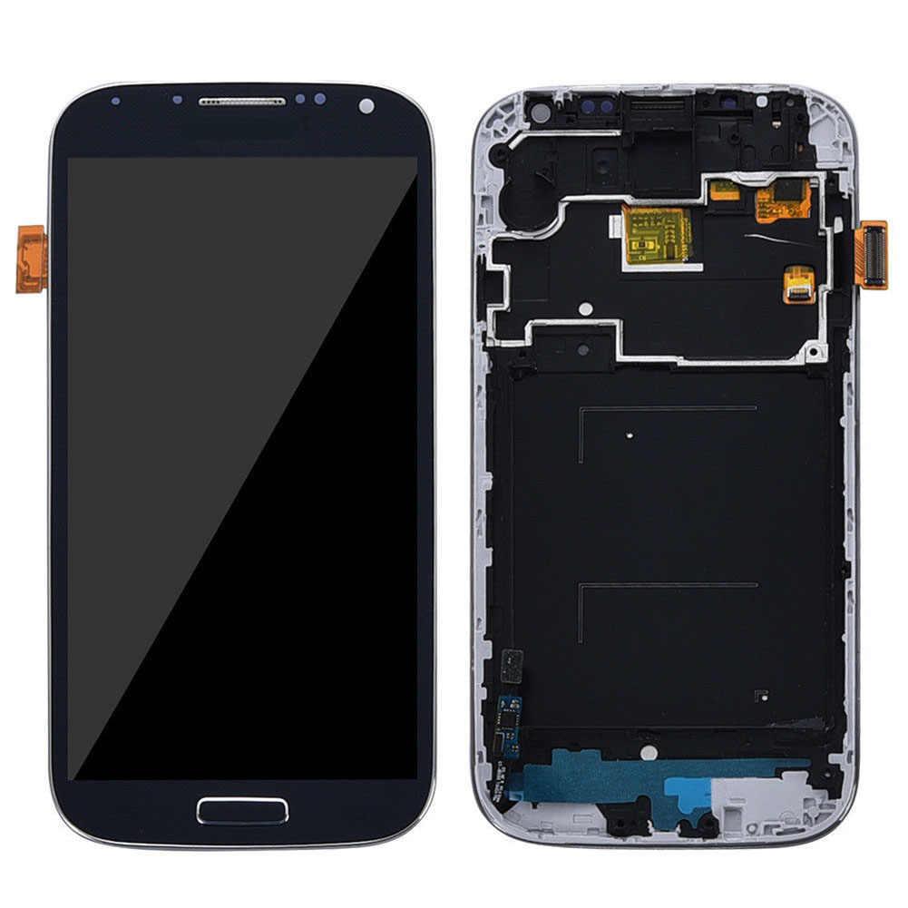 LCD شاشة تعمل باللمس محول الأرقام مع الإطار لسامسونج غالاكسي S4 i337 i9500 i9505