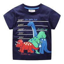 dinosaur t-shirt for boy 2019 summer children t shirts hot selling Fashion print t shirts for boys 2-7Y Cotton kids sports tops