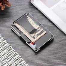 Mini Wallet Money Clip Magnet Clip Ultrathin Pocket Clamp Credit Card Case Mini Wallet Men High Quality(China)
