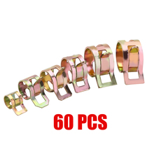 New Arrival 60Pcs Car Spring Clip Fuel Oil Water Hose Pipe Tube Clamp Fastener 6-15mm Car Styling Replacement Clips 60pcs spring clips 6 9 10 12 14 15mm for air hose tube water pipe fuel oil pipe silicone vacuum hose clamp fastener mayitr