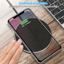 Metal Wireless Charger For iPhone 8 X XR XS Max QC3.0 10W 7.5W Fast Charging for Samsung S9 S8 Note 9 USB Pad