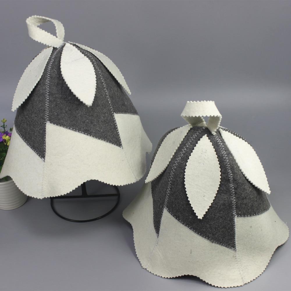 mooie bladeren ontwerp sauna vilthoed / wolvilt hoed (2st / - Huishouden