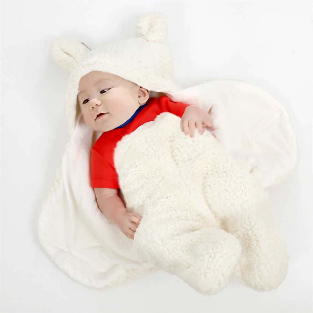 Newborn Baby Boy Girl Cute Cartoon Plush Receiving Blanket Sleeping Wrap Swaddle Foulard For New Born Baby Bath Towel Serviette Aliexpress