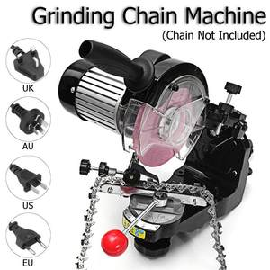 Image 2 - Large grinding wheels Saw Chain Grinder Electric Chainsaw Sharpener 230W 3600RPM for Bench Chainsaw Sharpener AU/UK/EU/US plug