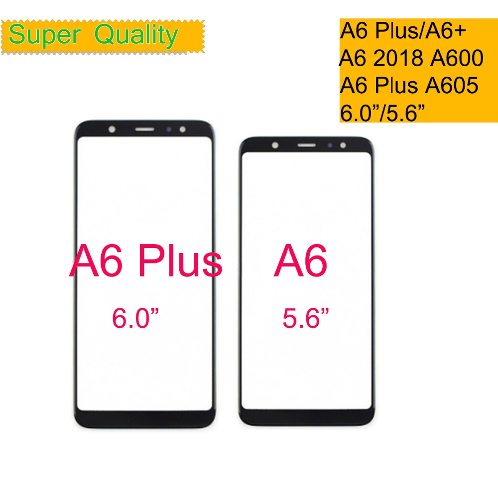 10Pcs/lot Touchscreen For Samsung Galaxy A6 2018 A600 A6+ Plus 2018 A605 A605F Touch Screen Front Glass Panel Outer Glass Lens