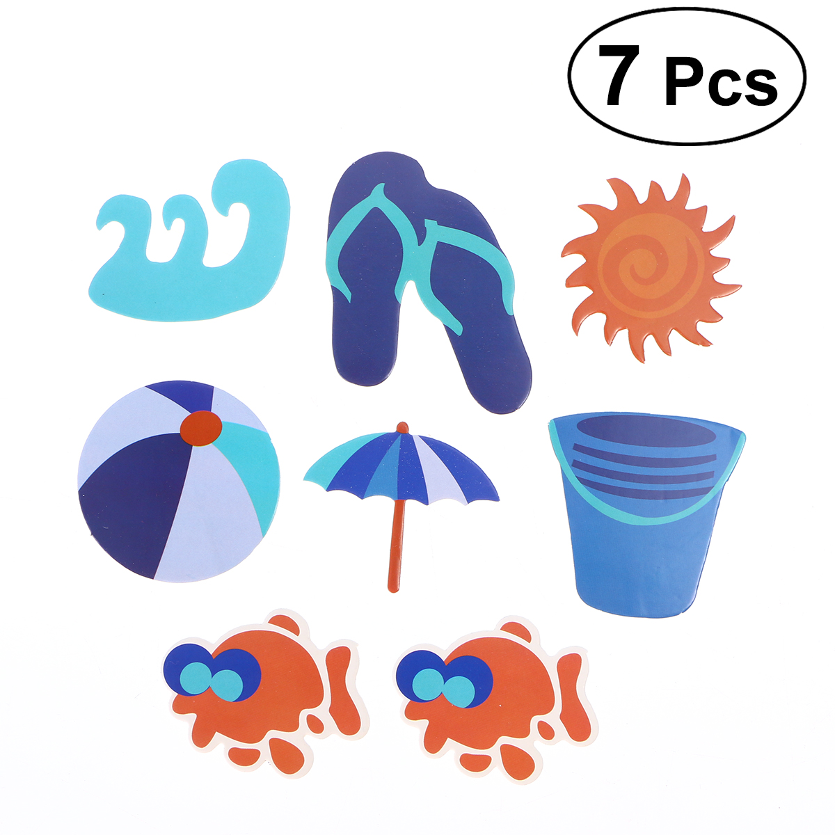 Us 1 08 37 Off 7pcs Hawaii Beach Themed Cake Topper Cake Picks Cake Decoration For Tropical Summer Hawaii Birthday Party In Party Diy Decorations