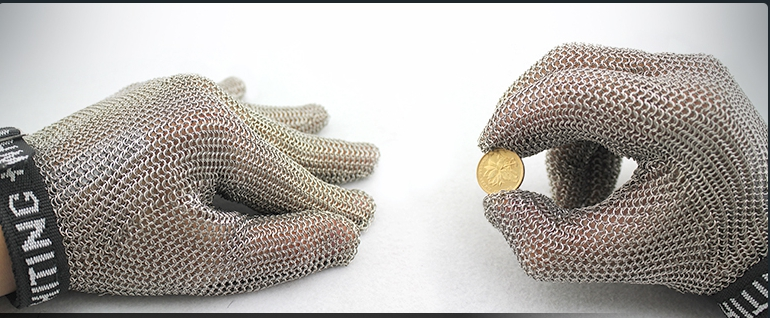 Пять пальцев стальной крюк перчатка из нержавеющей стали сетка перчатка - 4