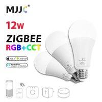 LED ZIGBEE Bulb E27 12W E26 Zigbee Lamp RGB CCT Dual White Smart Lamp App Control LED Bulb AC 110V 220V 230V Zigbee Light Link
