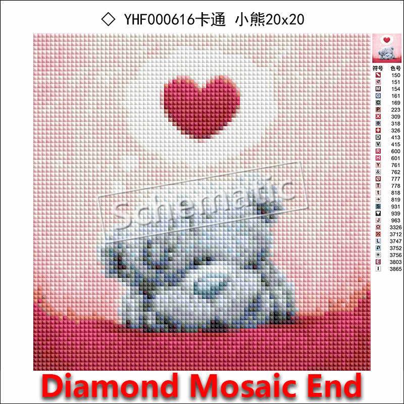 5D DIY Алмазная вышивка мультяшная кошка полная квадратная Алмазная мозаика цвет животное Полный Круглый Алмазная Картина Вышивка крестом котенок #