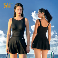361 Summer One Piece Swimsuit Solid Women Sexy Swimwear Pool Beach Halter Large Size Swim Dress Push Up Hot Spring Bathing Suit