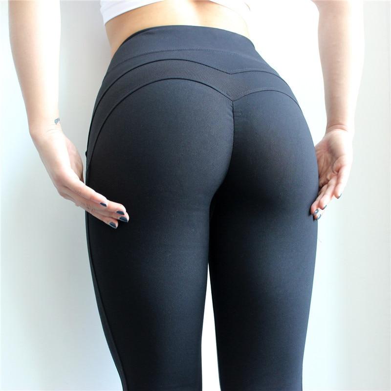 Women Tight Sports Leggings Sexy Hips Push Up Yoga Pants -9976