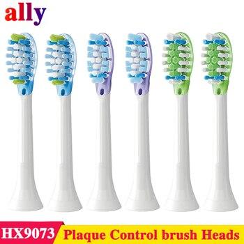 6 pièces HX9043/66 pour Philips Sonicare C3 contrôle de Plaque Premium Standard têtes de brosse à dents sonique HX9073/65 pour dents sensibles