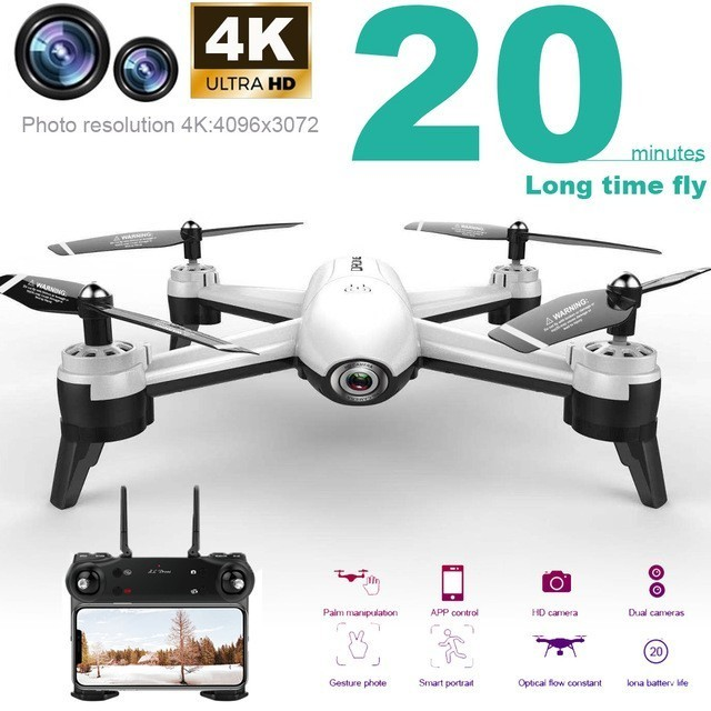 Sg106 Rc Drone 4k Optical Flow 1080p Hd Dual Camera Wifi Fpv Real Time Aerial Video Rc Quadcopter Helicopter Vs S20 E58 Xs816(China)