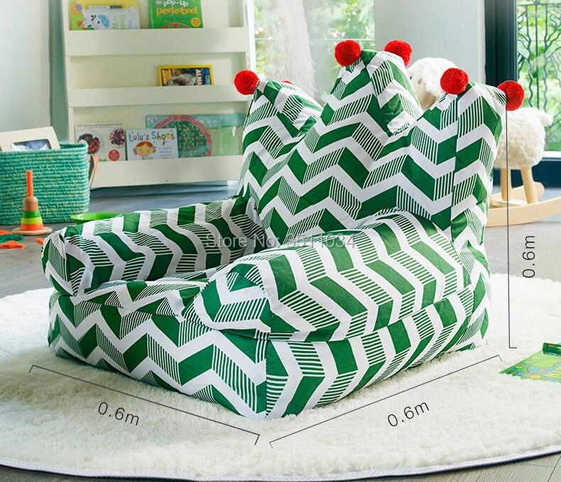Couleur verte belle canapé pouf paresseux canapé confortable salon loisirs haricot sac canapé étudiants/enfants tatami chaise démontage