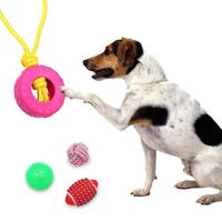10pcs Pet Dog Toy Dog Cotton Rope Flying Discs Interactive Chew Toys Dog Training Ball Outdoor Shoes Supplies