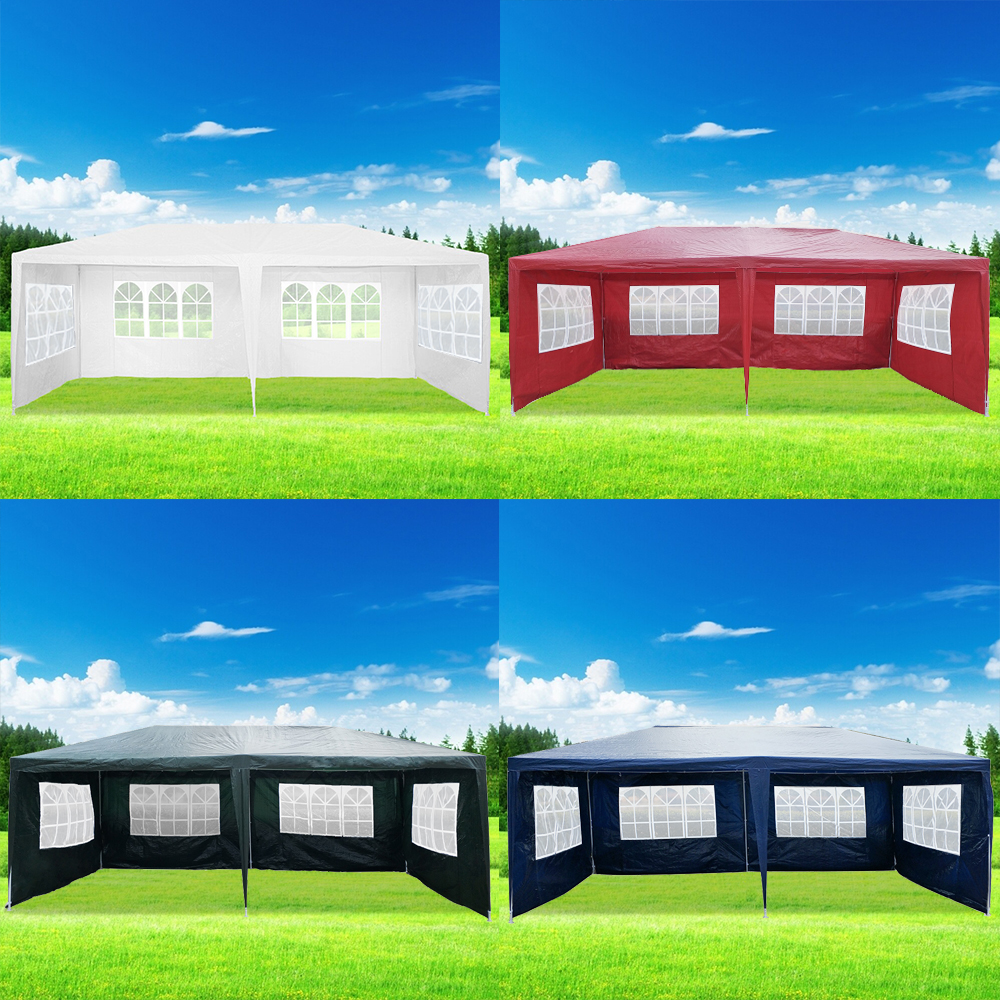 Panana 3 X 6m Waterproof Outdoor PE Garden Gazebo Marquee Canopy Party Tent Large Activity Sun Shade