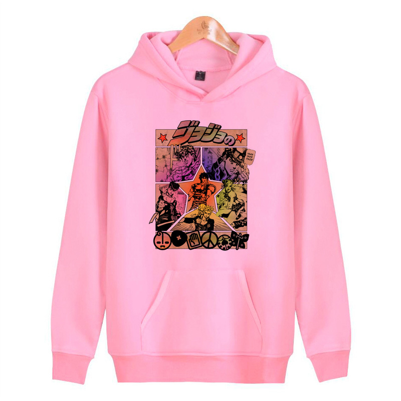 Jojo Bizarre Adventure Hoodies Sweatshirts Streetwear Male Pullover Men/women Hoddies Harajuku Hop Hip Homme J1464