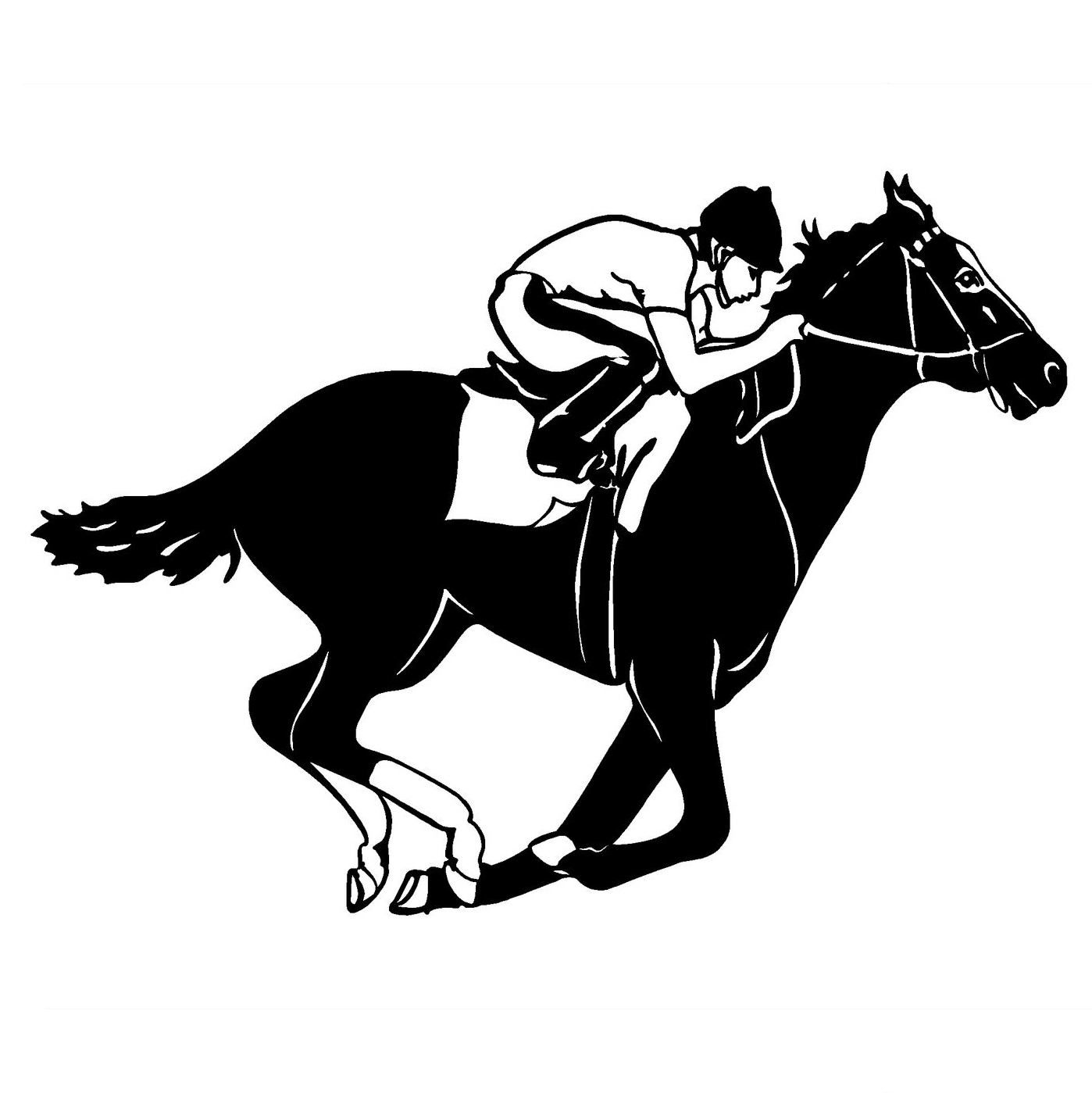 1511 3cm horse jockey cool graphics car decal thoroughbred racing race window trailer vinyl stickers in car stickers from automobiles motorcycles on