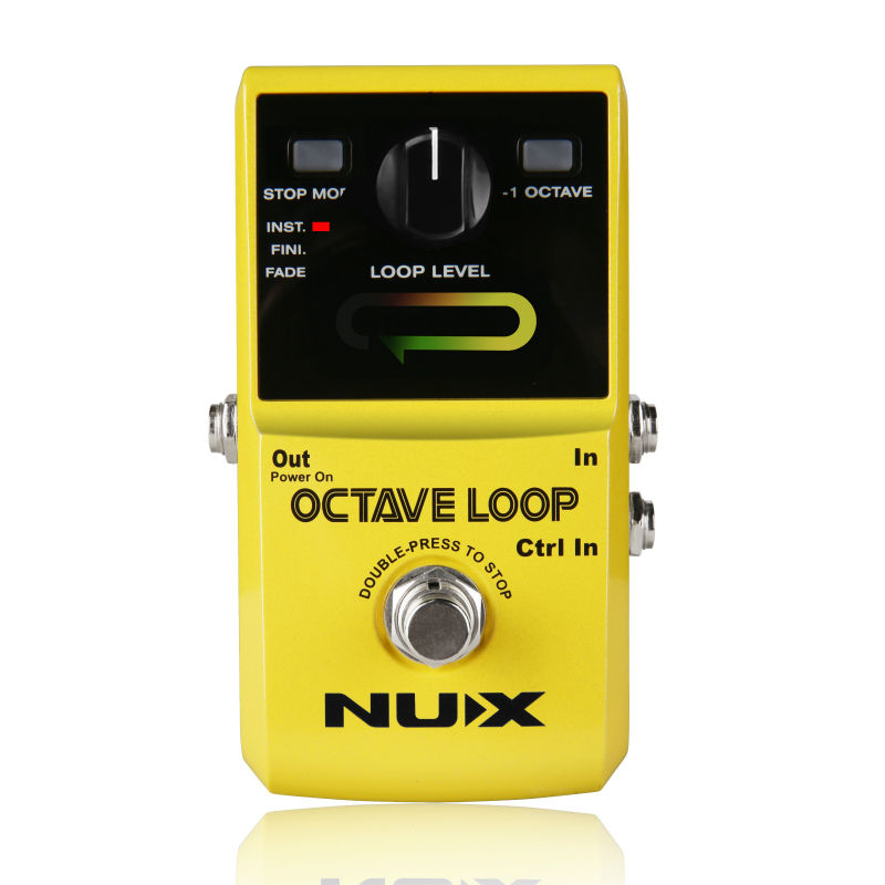 New NUX Octave Loop Looper Pedal with -1 Octave Effect Infinite Layers with Bass-Line True Bypass Guitar Pedal EffectNew NUX Octave Loop Looper Pedal with -1 Octave Effect Infinite Layers with Bass-Line True Bypass Guitar Pedal Effect