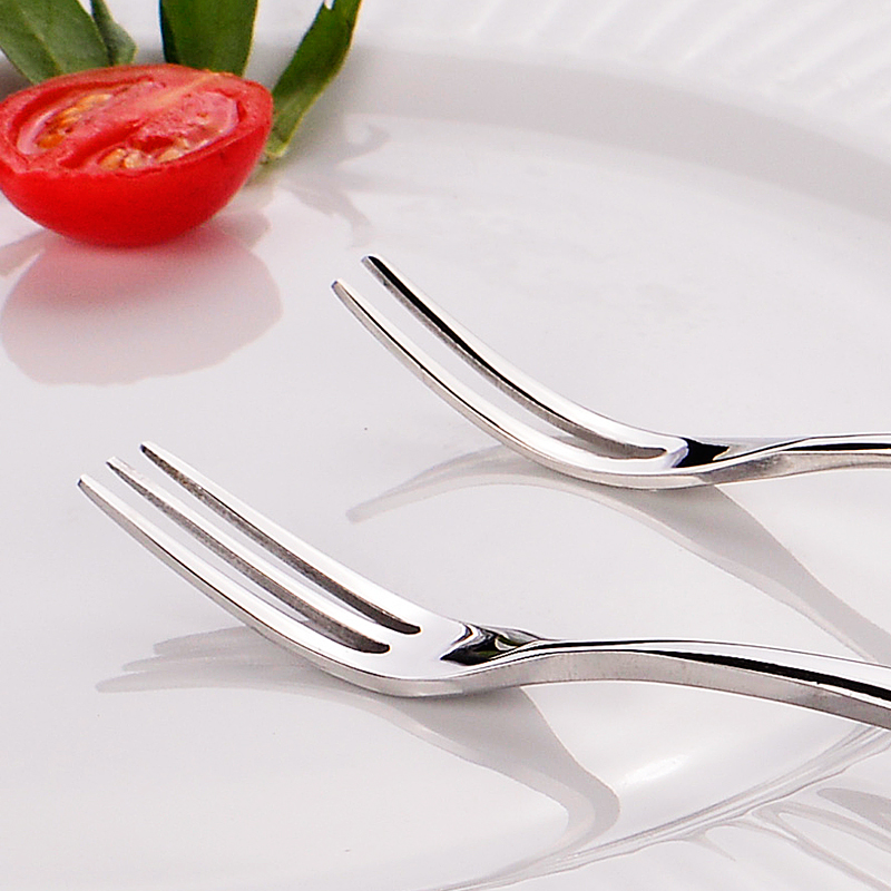 Stainless Steel Fruit Forks Cutlery Dessert Fruit Forks For Restaurant Cafeteria Home Flatware For Fruit Salad 12cm in Forks from Home Garden