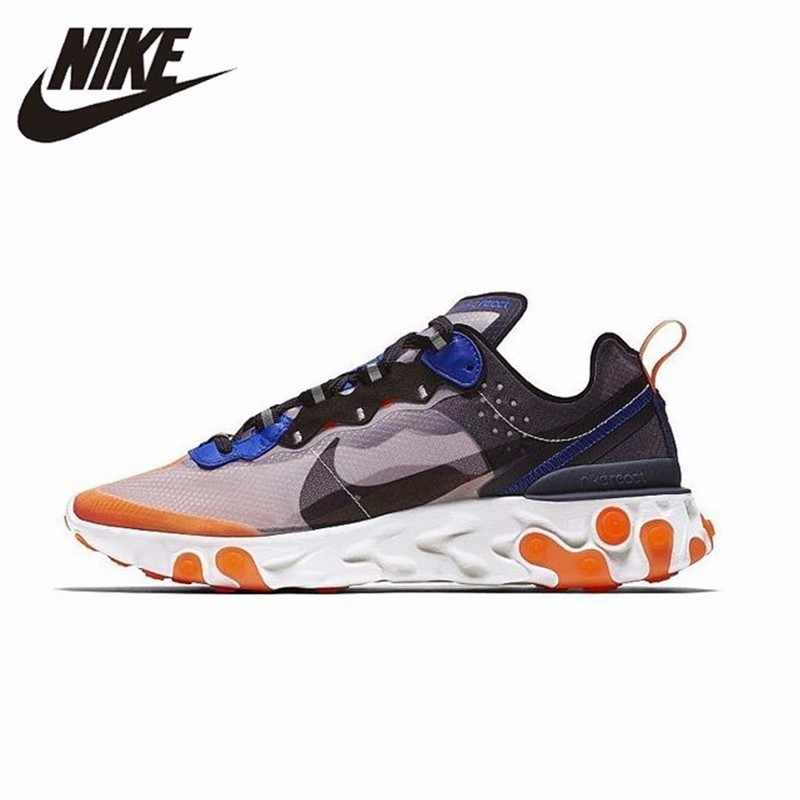 054ca6fe31 Nike React Element 87 Men Running Shoes New Arrival Comfortable Breathable  Outdoor Sports Sneakers #AQ1090