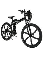26 inch folding electric mountain bike 48V lithium 500w SMART electric bicycle battery power instead of walking ebike Bicycle     -