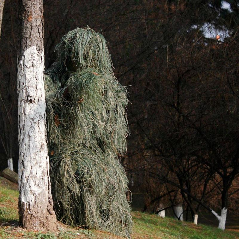 Image 4 - 3D Leaf Camouflage Ghillie Suit Outdoor Hunting Birding Watching Photographing Clothing Breathable Jungle Clothes for Hunter-in Hunting Ghillie Suits from Sports & Entertainment