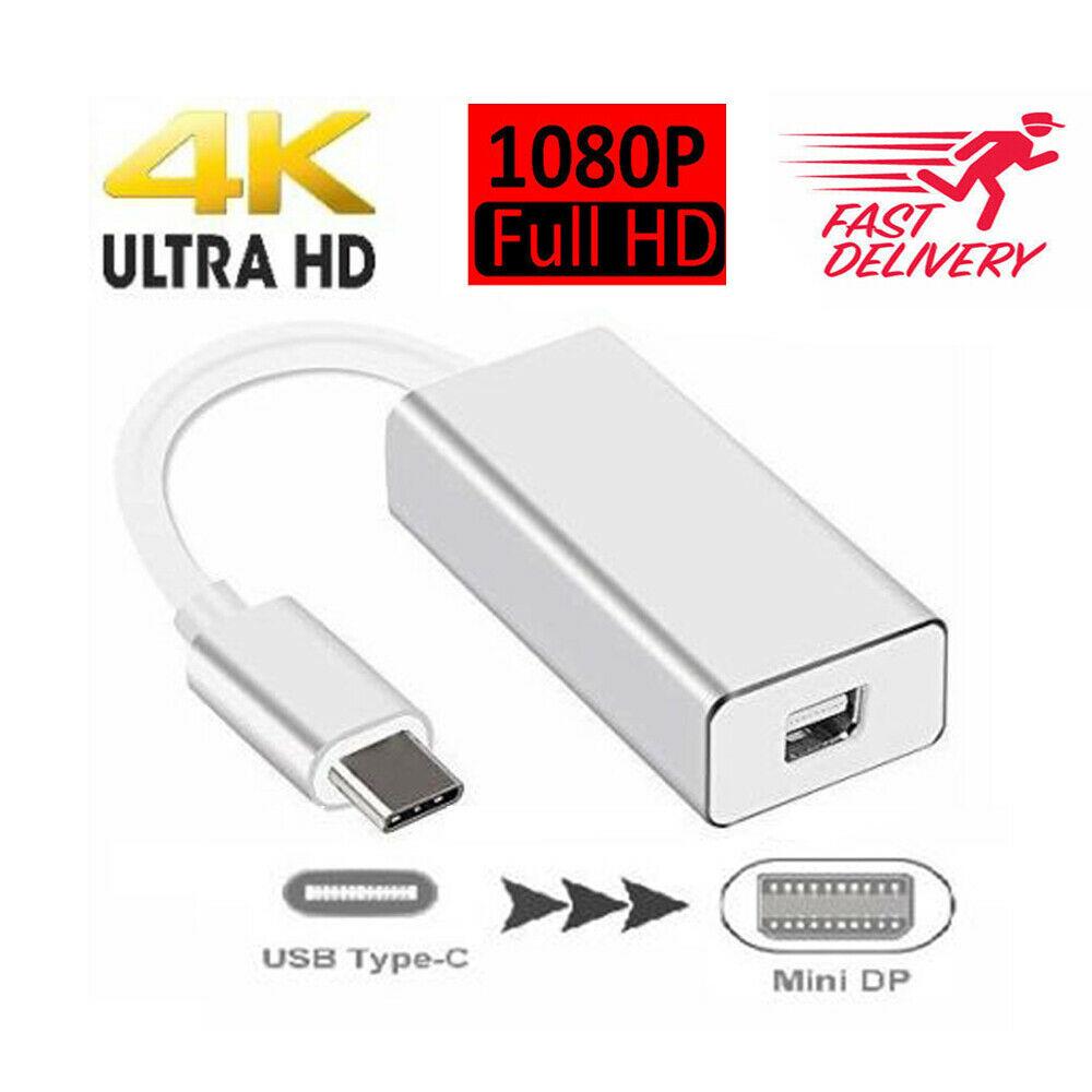 USB-C to Mini DisplayPort Converter 4K 60HZ Type-C Mini DP Adapter For MacBook