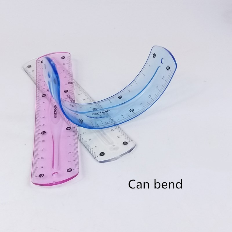 1pc Cute Can Bend Ruler Student Prizes Korea Creative Stationery Wholesale 15cm Rulers For School Supplies 06023