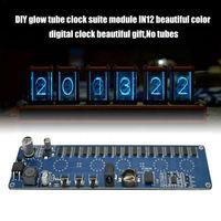 Diy Glow Tube Clock Suite Module In12 Beautiful Color Digital Clock Beautiful