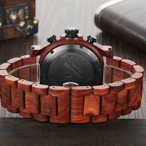 SIHAIXIN New Men Wooden Watch Waterproof Handmade Man Wood Wristwatches Quartz Movement Date Sport Male Clock erkek kol saati Multan