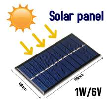 LEORY 6V 1W DIY Solar Panel 60*110mm Polycrystalline Portable Mini Module Panel System Epoxy Board for Learning
