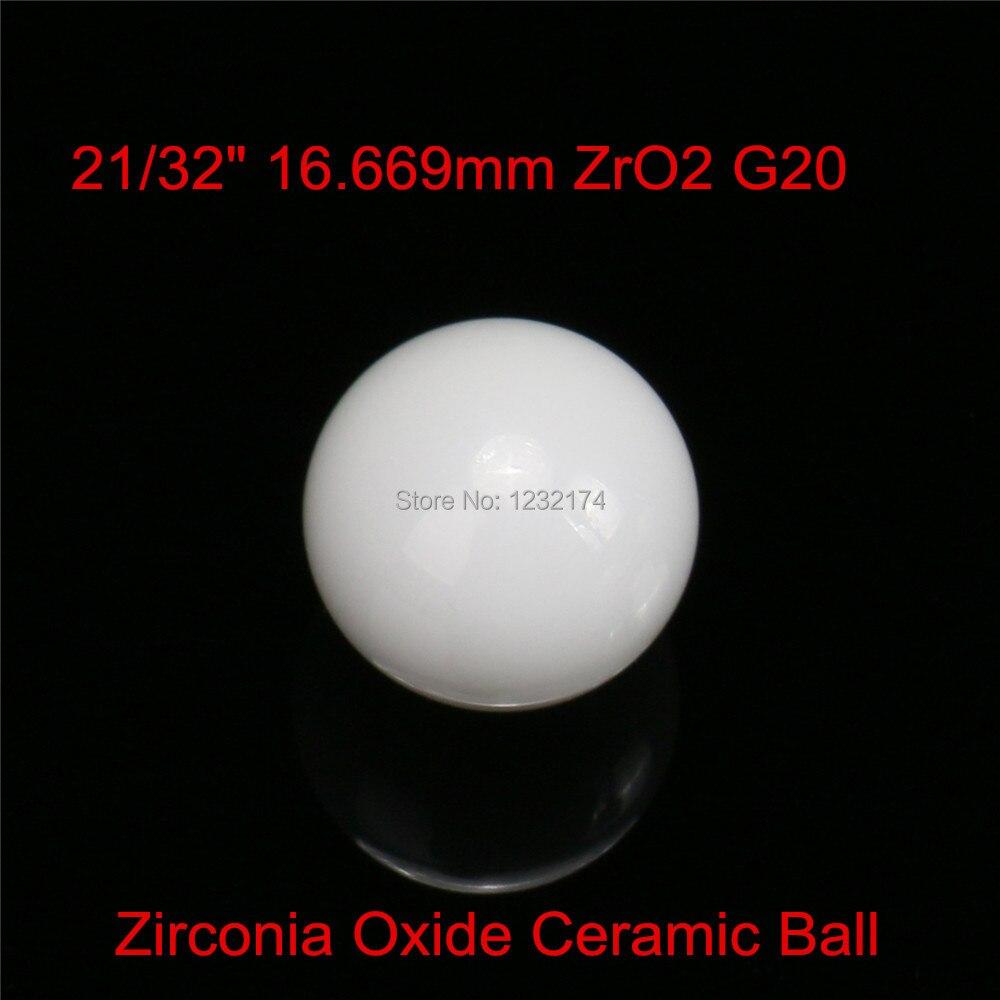 213216.669mm ZrO2 Zirconia Oxide Ceramic Ball G20 2pcs for valve ball,bearing, homogenizer,sprayer,pump 16.669mm ceramic ball