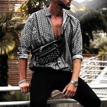 INCERUN Casual Shirt Men Print Long Sleeve Ethnic Style Fashion Tropical Beach Hawaiian Loose Brand Shirts Camisa 2019