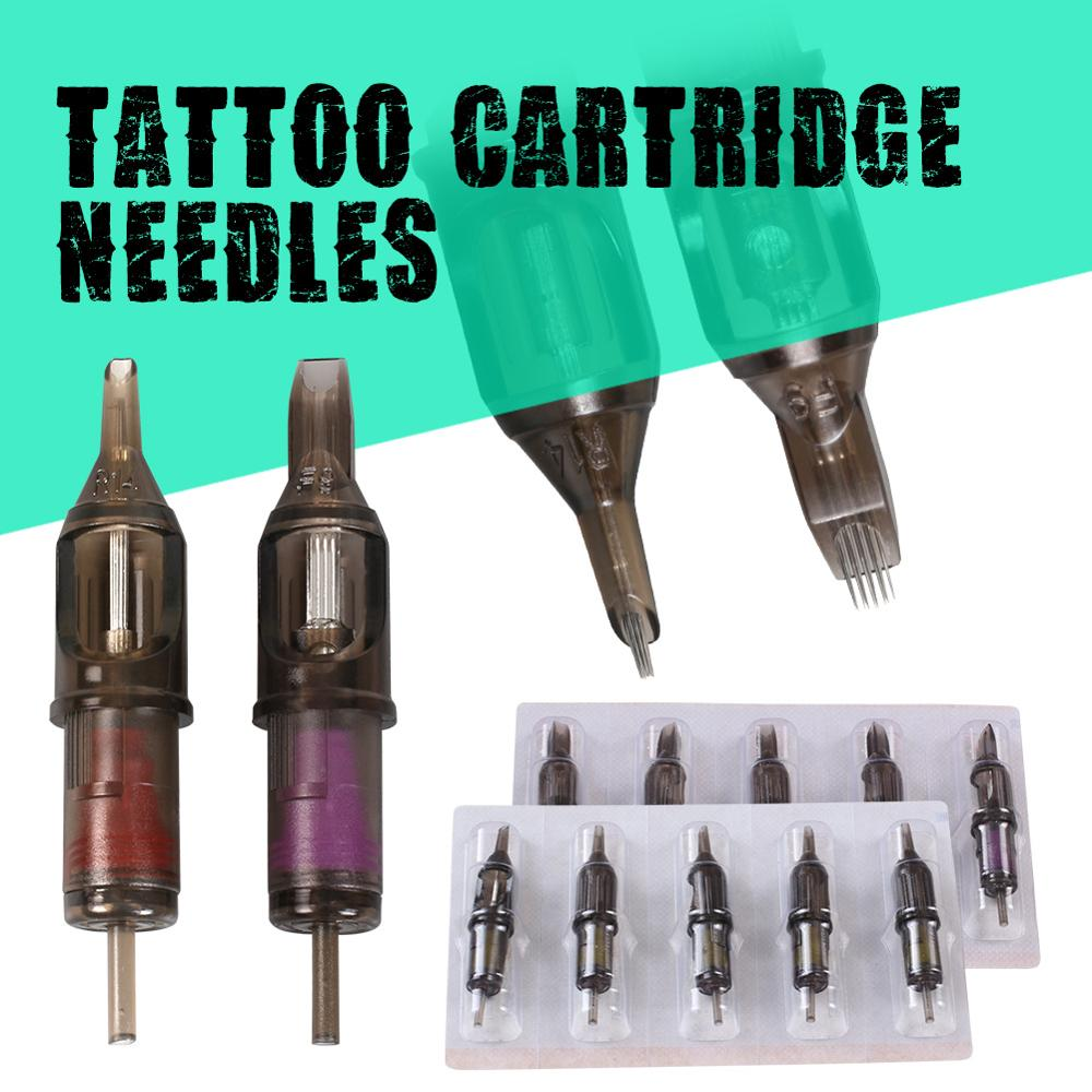Hot Sale 10pcs Disposable Semi-Permanent Makeup Tattoo Cartridge Needle RL Tattoo Gun Supplies 1RL/3RL/5RL/7RL/9RL/11RL-0-10