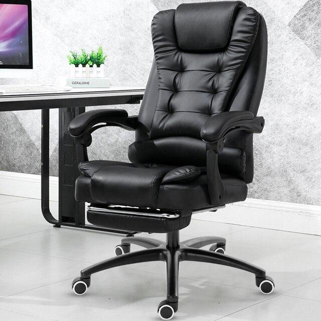 Chaise de jeu ergonomique en cuir, ordinateur domestique, travail de bureau, meubles de Massage, jeu de jeu, repose-pieds pivotant en cuir synthétique