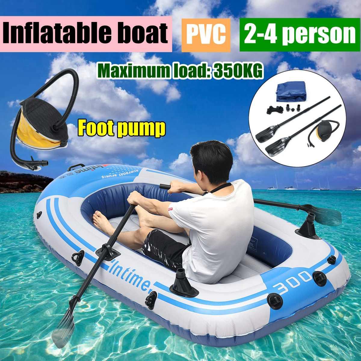 Fishman Sports bateau de pêche gonflable radeau PVC canot canot tendre 2/3/4 personne Kayak bateaux de pêche coussin bateaux à rames
