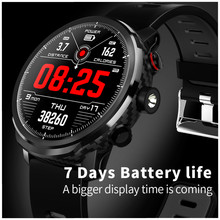 Купить с кэшбэком Mirror screen Smart Watch Men IP68 Waterproof  Heart Rate Weather Calendar Forecast Bluetooth Round Smart Bracelet Android Ios